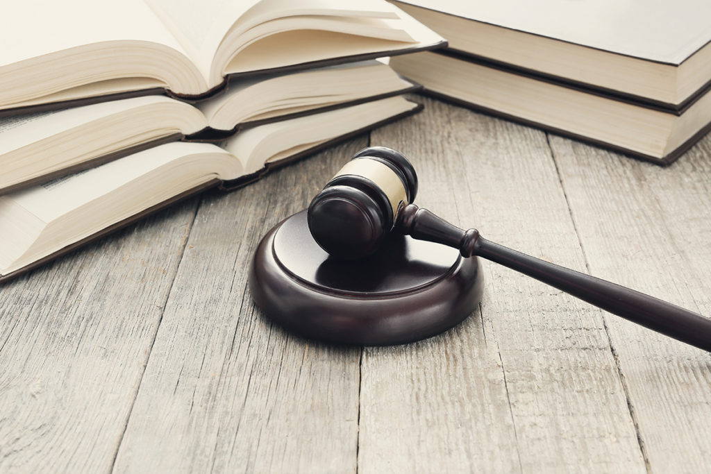 court hammer and books judgment and law concept
