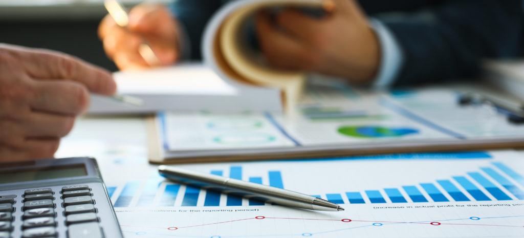financial statistics documents ball pen 1