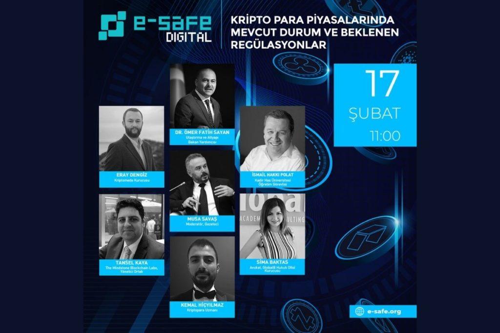 Kripto Para Piyasasında Mevcut Durum ve Beklenen Regülasyonlar e-Safe Video Konferansında Tartışıldı