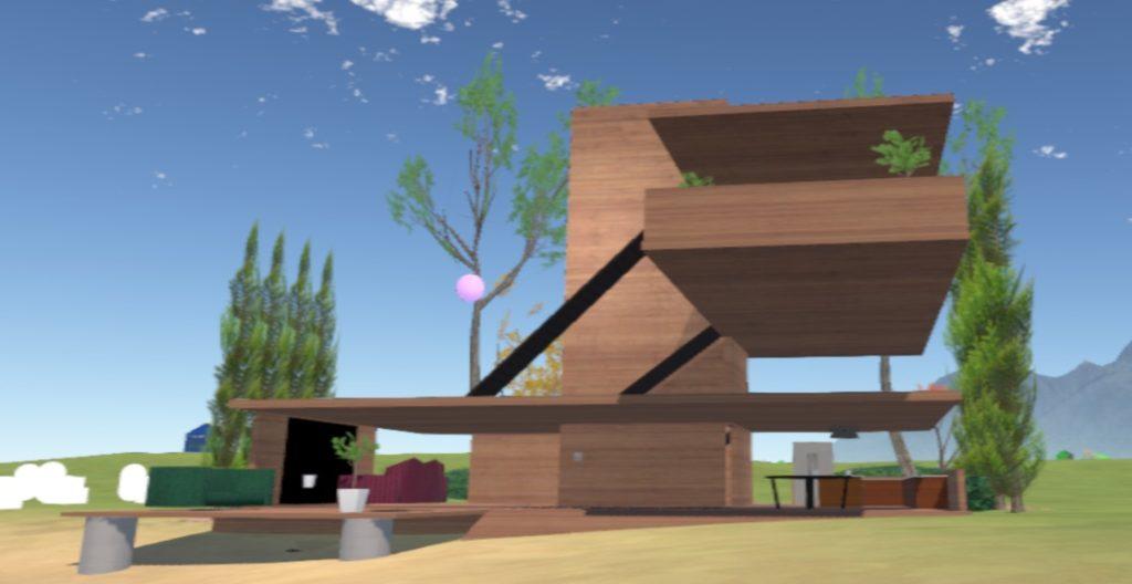 Somnium Space'den bir mimari proje görüntüsü