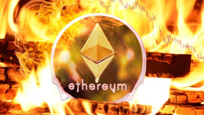 ethereum aginda yarim milyon ethereum yakildi